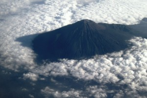 Gunung Slamet dari ketinggian