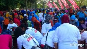 Rekor Wudhu Massal di kabupaten Tegal