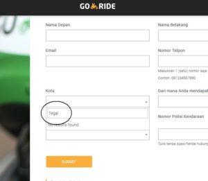 Pendaftaran Go-Ride