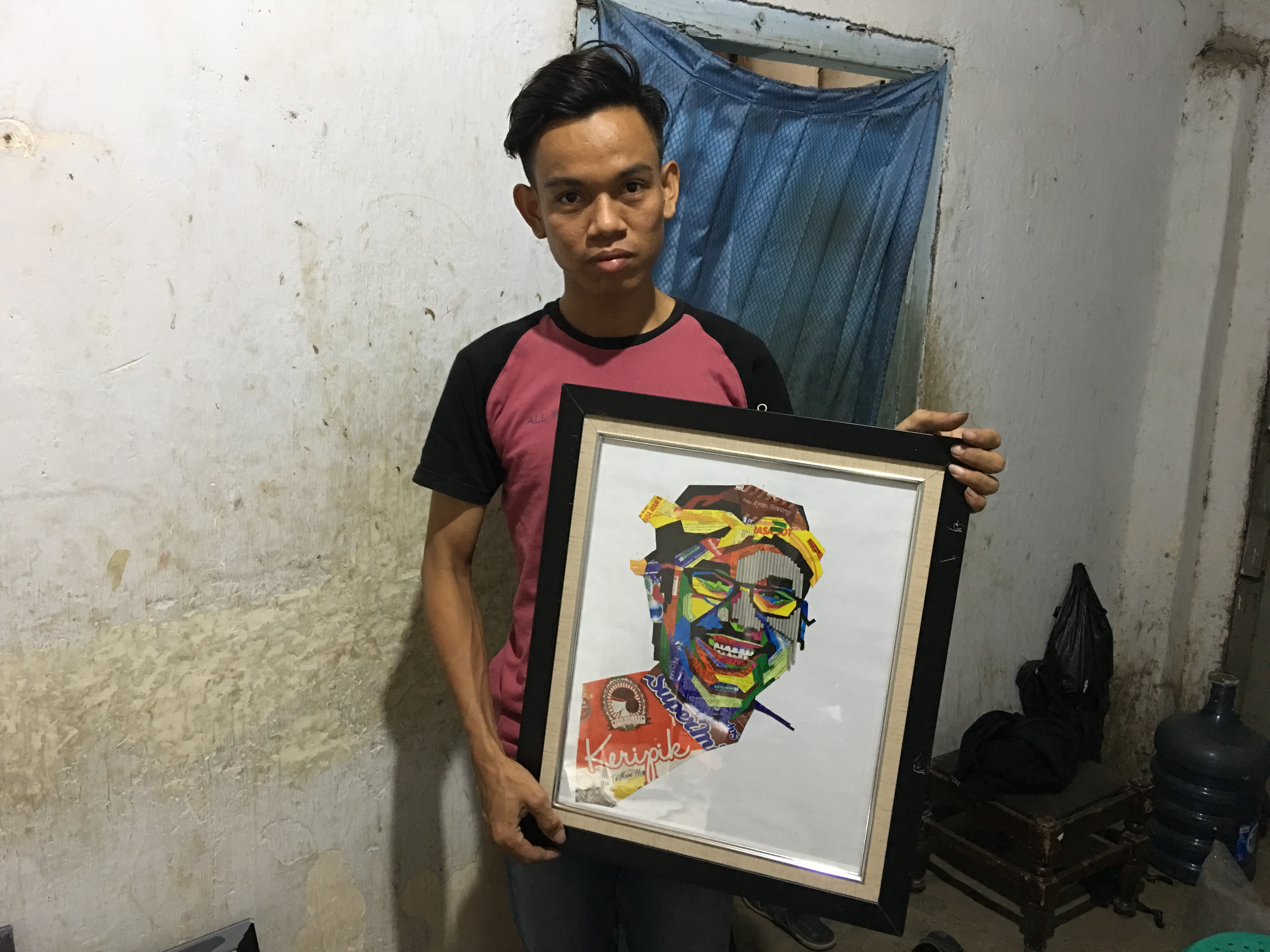 Waste Plastic Art Tegal